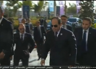 وصول الرئيس السيسي إلى مقر افتتاح المؤتمر الوطني السابع للشباب