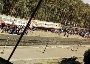"""""""الصحة"""": 25 سيارة إسعاف في موقع حادث قطار البدرشين"""