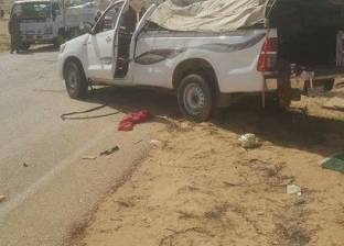 إصابة 17 شخصا في حادث تصادم سيارتين بطريق الفيوم الصحراوي