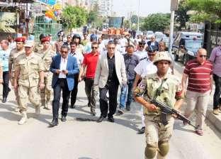 بالصور| مدير أمن الإسماعيلية يترأس حملة لإزالة التعديات بطريق البلاجات