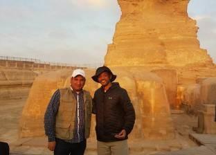 """ويل سميث من أمام الأهرامات: """"أتمنى زيارة مصر مرة أخرى"""""""