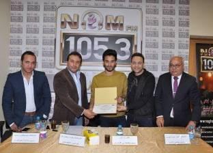 "بالصور| مصطفى قمر ورئيس ""راديو النيل"" يوزعان جوائز ""فرصة وجاتلك"""