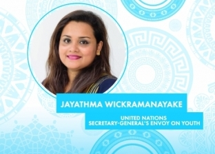 مبعوث أمين عام الأمم المتحدة تلقي كلمة بافتتاح منتدى شباب العالم