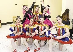 فتيات «باليه الأهلى» يرقصن على «الليلة الكبيرة» فى حفل فولكلورى
