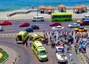 إصابة طالب بالكلية الجوية في حادث سير على طريق الكورنيش بالإسكندرية