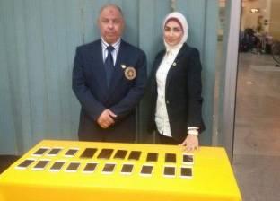 جمارك مطار برج العرب تضبط محاولتي تهريب 20 تليفون ماركة I phone