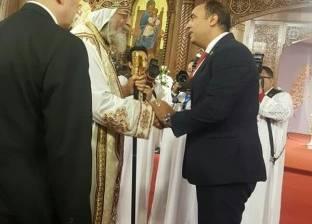 النائب خالد عبد العزيز ينهئ البابا تواضروس بعيد الميلاد المجيد
