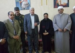 مدير أمن جنوب سيناء يهنئ أقباط كنيسة موسى النبي بعيد الميلاد المجيد