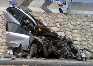 """مصرع 4 مواطنين وإصابة 9 إثر حادث تصادم أمام ملعب """"برج العرب"""""""