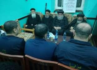 رجال الدين المسيحي يزورون سجون بورسعيد احتفالا بعيد الميلاد