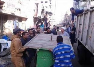 إزالة الاشغالات بجوار مستشفى القباري بغرب الإسكندرية