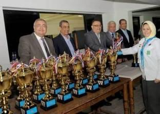 نائب جامعة الإسكندرية يشهد توزيع جوائز الدورة الكشفية الـ39