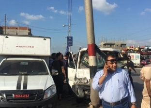 إصابة 3 عاملين في انقلاب سيارة بالطريق الزراعي في البحيرة