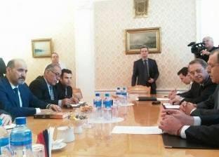 """""""الجربا"""" يطالب موسكو بوقف إراقة الدماء في سوريا وفتح ممرات إنسانية"""