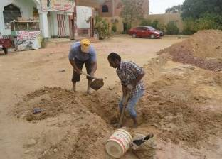 الانتهاء من إصلاح 6 أعطال بشبكة مياه شرب الخارجة في الوادي الجديد