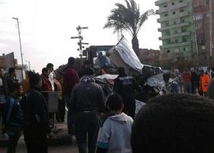 ضبط عامل مزلقان أشمون بعد اصطدام سيارة بقطار وإصابة 3 أشخاص