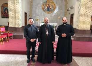 بطريرك الإسكندرية للأقباط الكاثوليك يزور النصب التذكاري لمؤسس بغداد