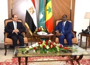 السيسي يعقد جلسة مباحثات مع رئيس جمهورية السنغال