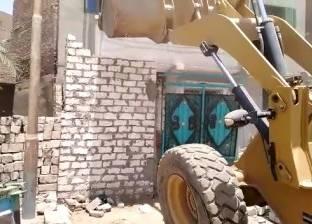 تنفيذ قرارات إزالة لتعديات على أراضي قرية المهاجرين بسمالوط