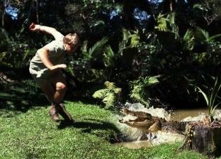 رغم تقييده.. تمساح ينتقم من صياده