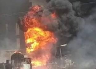 15 سيارة إطفاء للسيطرة على حريق بمصنع منسوجات في العاشر من رمضان