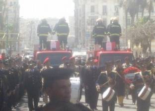 بدء مراسم الجنازة العسكرية لضحايا حادث استهداف مدير أمن الإسكندرية