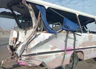 إصابة 7 أشخاص بحادث انقلاب سيارة على الطريق الصحراوي بالبحيرة