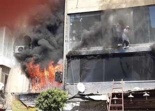 السيطرة على حريق بمعرض وورشة أحذية بميدان باب الشعرية