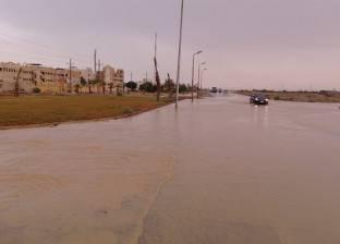 عاجل| غلق طريق العين السخنة بسبب السيول