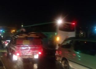 """""""صرف القاهرة"""": معالجة انسداد خط صرف الأتوستراد وانتظام حركة المرور"""
