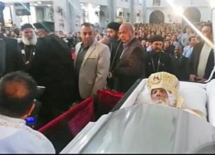 بالصور| مراسم دفن أسقف البحر الأحمر بكنيسة الأنبا شنودة في الغردقة
