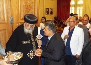بالصور  تواضروس يستقبل ممثلي لجنة إدارة الأزمات في الكاتدرائية