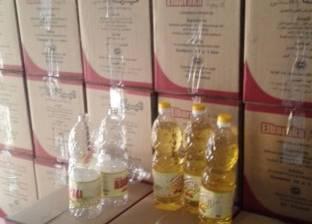 ضبط كميات من الزيوت تموين مدعم فى حملة تموينية بشوارع المحلة الكبري