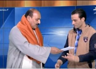"""نجل """"الحاجة سبيلة"""" يتبرع بـ10 آلاف جنيه لمنقذ الركاب في حادث محطة مصر"""