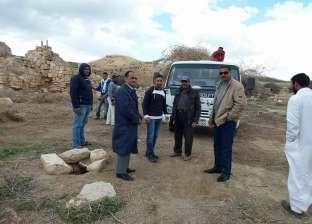 بالصور| مدير آثار الإسكندرية يتفقد أعمال تطوير منطقة أبومينا