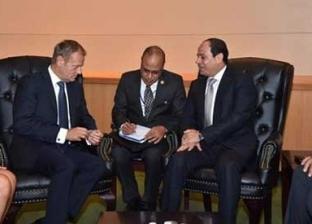 بدء لقاء السيسي ورئيس المجلس الأوروبي لبحث عدد من الملفات المشتركة