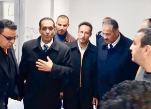 وكيل «صحة شمال سيناء» يتفقد الأعمال الإنشائية بـ«العريش العام»