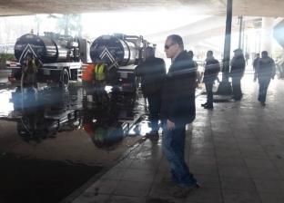 رئيس حي غرب القاهرة: إزالة تجمعات المياه بكورنيش النيل إثر كسر ماسورة