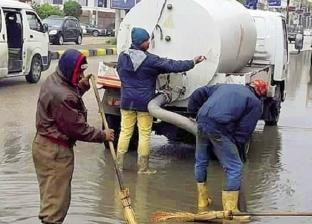 الأمطار تغرق آثار رشيد.. وإغلاق بوغازى الإسكندرية والدخيلة