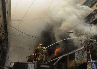 اندلاع حريق هائل بمصنع قطن بالغربية.. والدفع بـ12 سيارة مطافئ