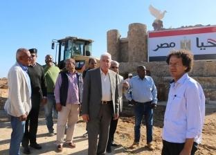 """محافظ جنوب سيناء يتابع أعمال إنشاء """"ميدان أفريقيا"""""""