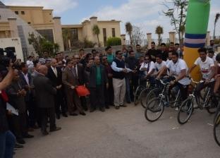 ماراثون دراجات لدعوة الشباب للمشاركة في الاستفتاء ببني سويف