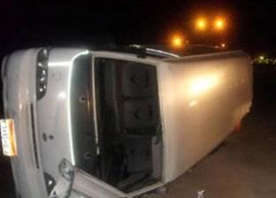 """إصابة 16 شخصا في انقلاب ميكروباص على """"صحراوي المنيا"""""""