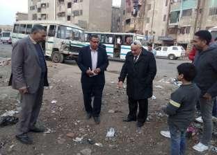حظر سير السيارات بدون لوحات معدنية بحي شرق شبرا الخيمة