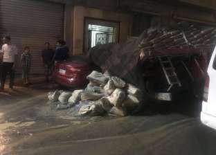 بالصور  هبوط أرضي بشارع محمد فؤاد في الإسكندرية