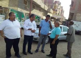 السكرتير العام المساعد ببني سويف يقود حملة نظافة في شوارع المدينة