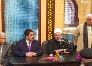 بالصور| وزير الأوقاف يفتتح المسجد الكبير في الخصوص