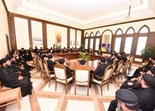 البابا يستقبل كهنة إيبارشية دمياط وكفر الشيخ والبراري