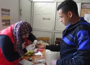 انطلاق حملة «100 مليون صحة» بجامعة المنيا