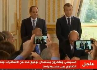 ماكرون: أؤمن بسيادة الحكومة المصرية.. ولن نلقن حكام العالم دروسا